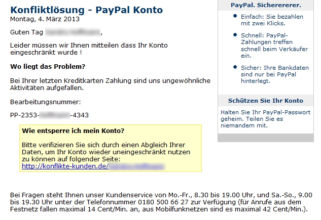 malware und ich probleme mit paypal. Black Bedroom Furniture Sets. Home Design Ideas