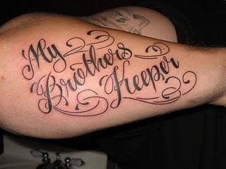 Hand font tattoo design