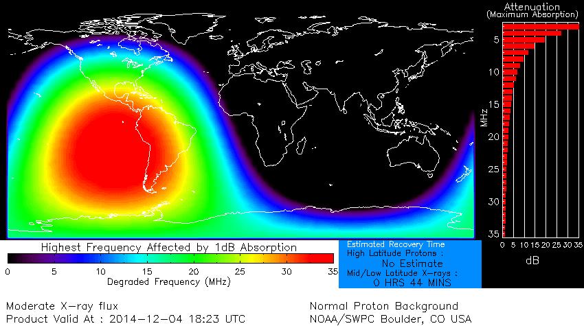 AREA DE IMPACTO EXPLOSION SOLAR