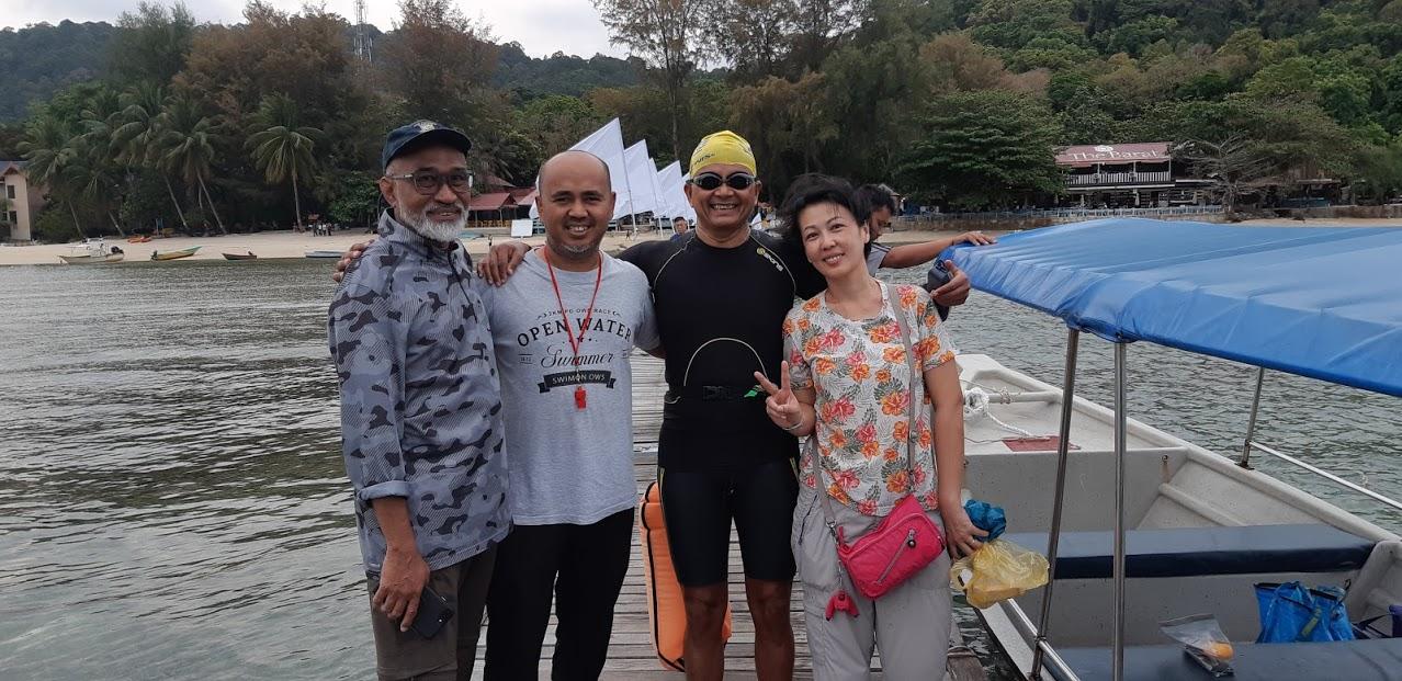 Partial swim around Pulau Perhentian Besar and Kecil