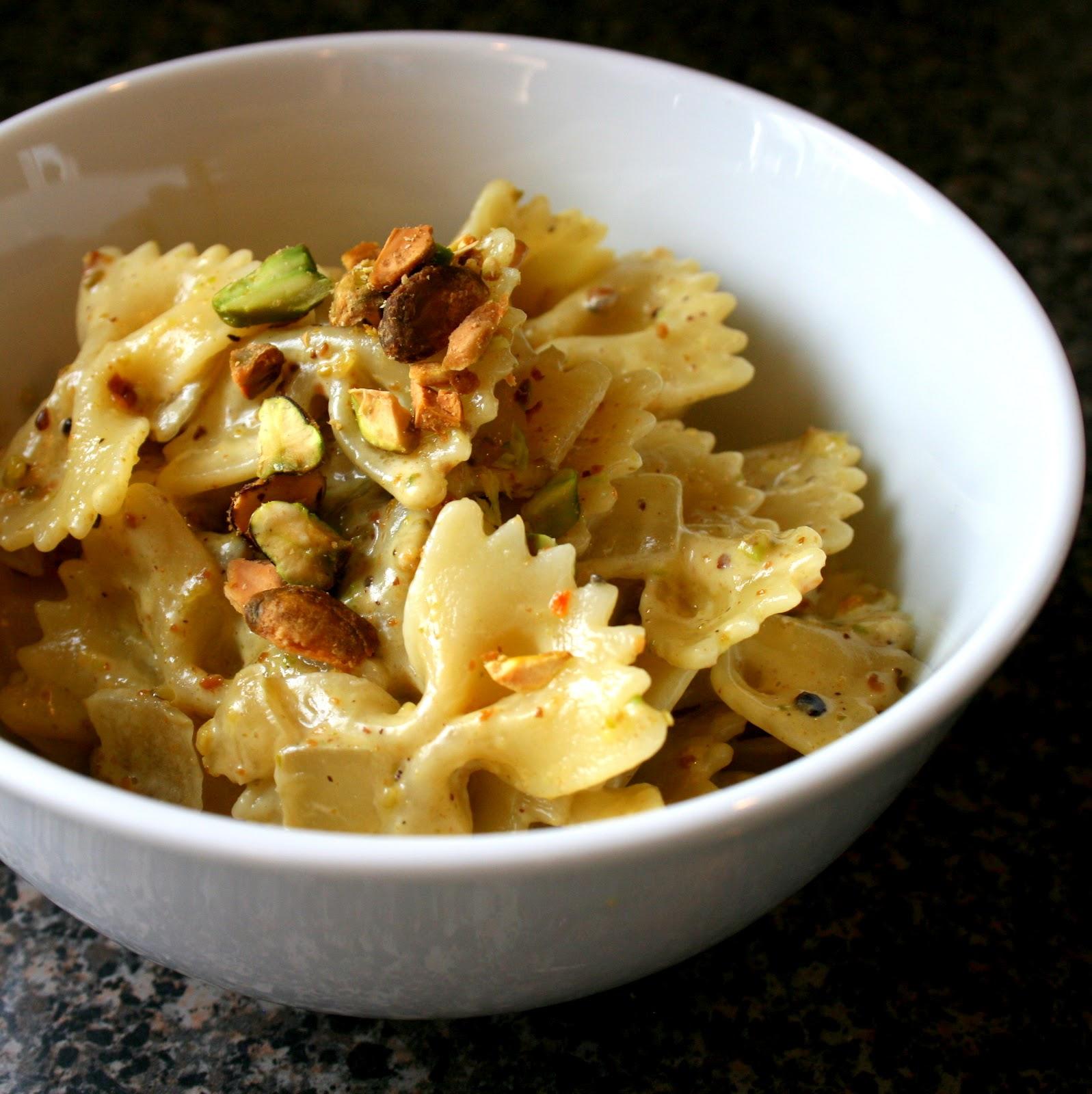 Farfalle With Pistachio Cream Sauce Recipe — Dishmaps