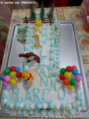 torta del 1° compleanno di mio figlio