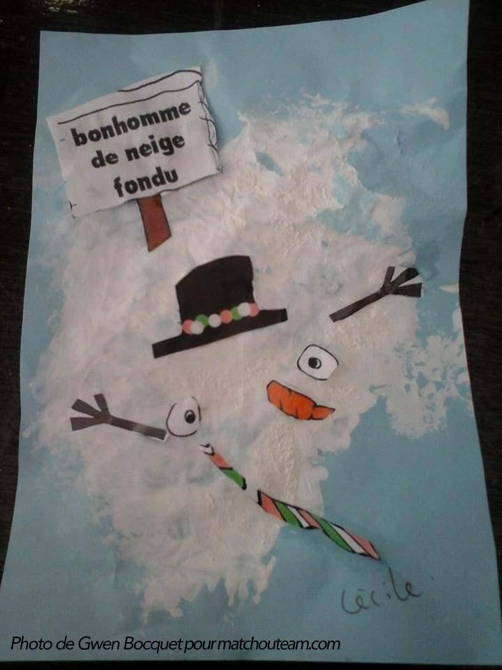 bonhomme de neige en peinture
