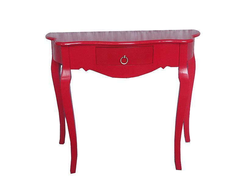 mueble recibidor rojo, mueble entrada, consola recibidor