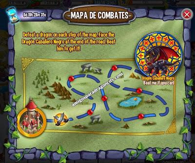 imagen del mapa de batallas de la isla del castillo de dragon city