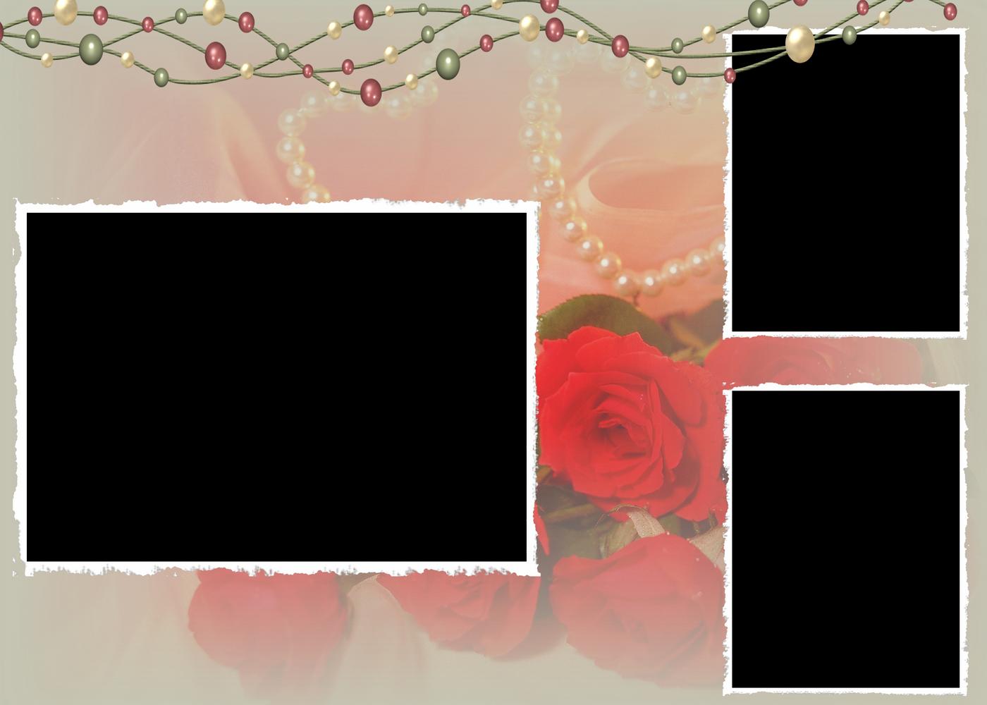 rosas con perlas