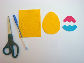 Step+1+ +Trace Tutorial:  Felt Easter Egg