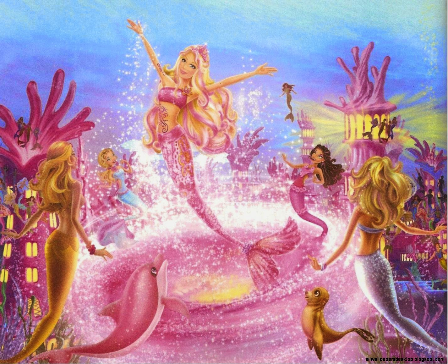 Barbie cartoon mermaid wallpaper hd all wallpapers desktop view original size voltagebd Images