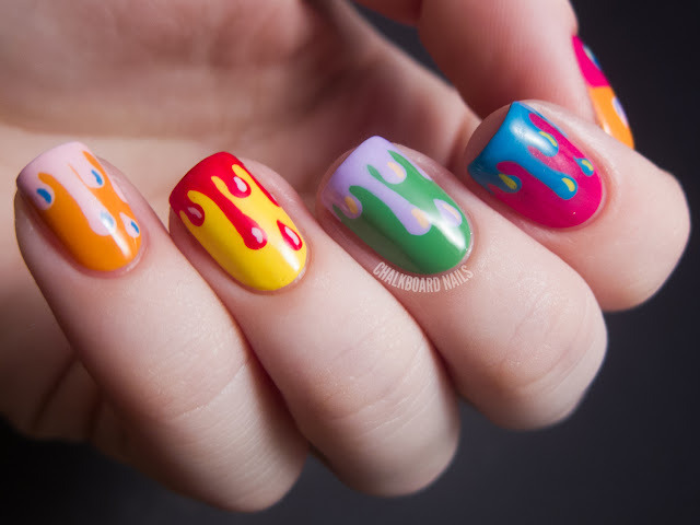 warhol drips 2 - cool Artwork nail