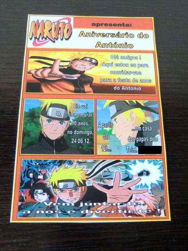 decoracao festa naruto: Encomenda Pronta: Convites e Brindes para Festa Infantil – Tema Naruto