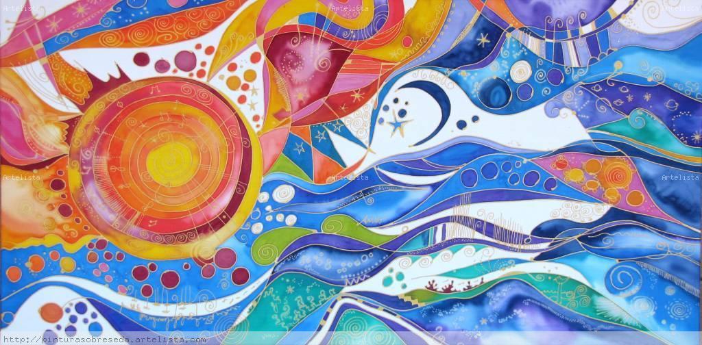 Arte al sur mayo 2012 - Paisaje con colores calidos ...