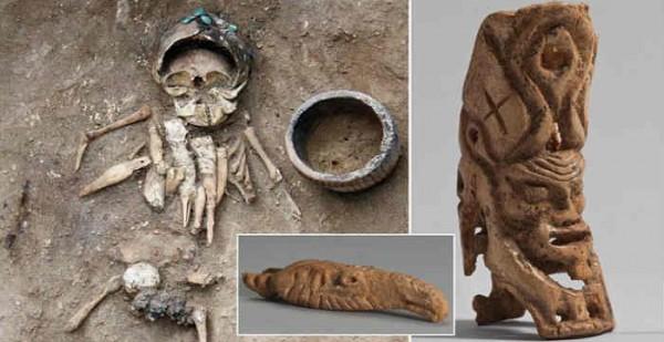 Αρχαιολόγοι ανακάλυψαν κουδουνίστρα 4.500 ετών σε τάφο παιδιού στη Ρωσία (Εικόνες)