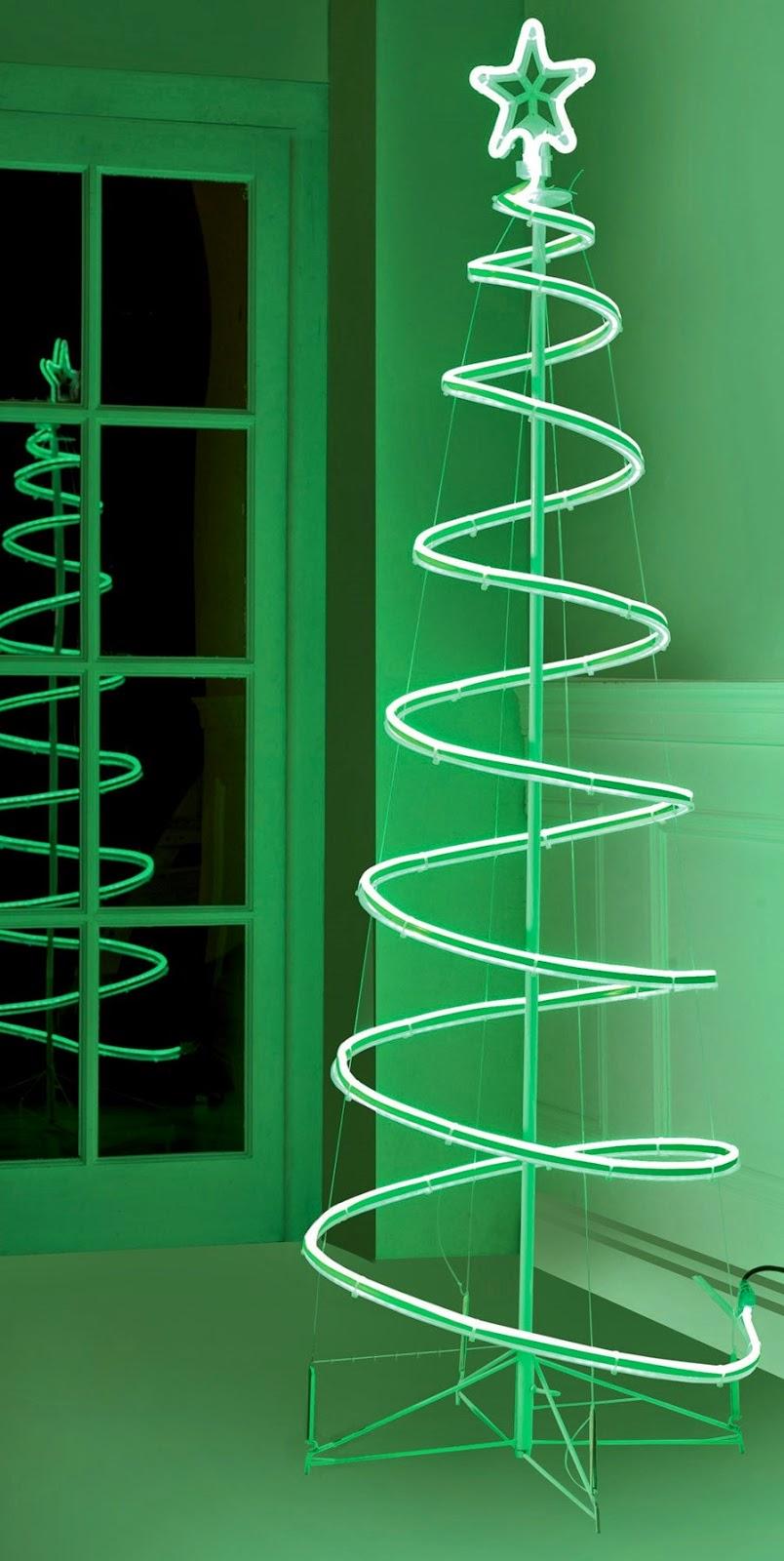 Neon Spiral Tree