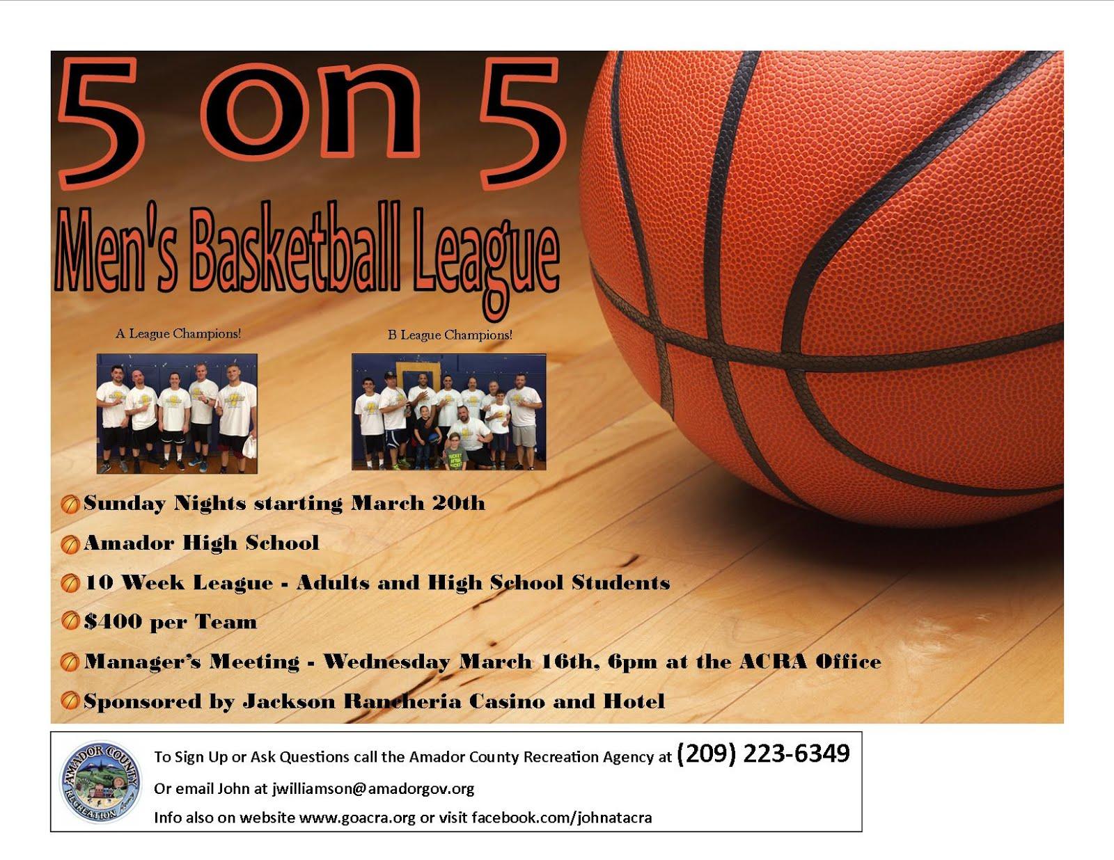 Men's Basketball - Begins Mar 20