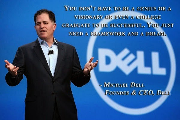Educational quote from Michael Dell