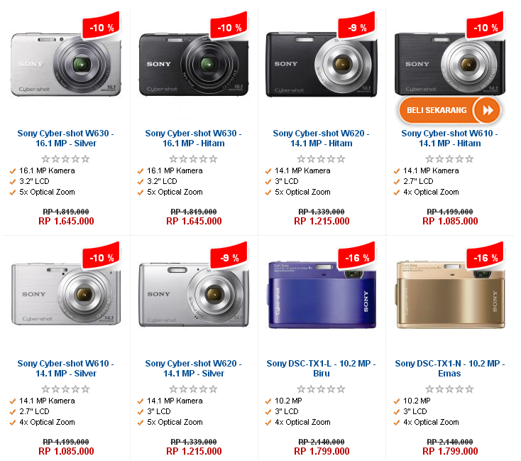 harga kamera digital sony november 2012