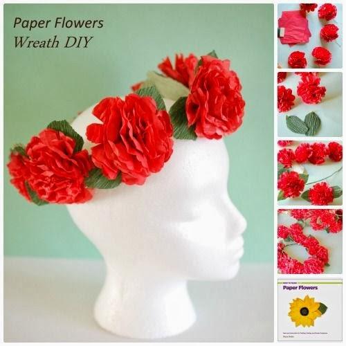 Paper flower tutorial craft recap handmade paper flowers for Handmade paper flowers tutorial