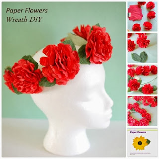 #paper #flowers #tutorial crepe paper flowers book how to book dennison pink craft peach tissue kids weddings