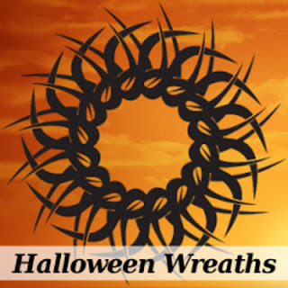 instructions to make a mesh wreath for Halloween
