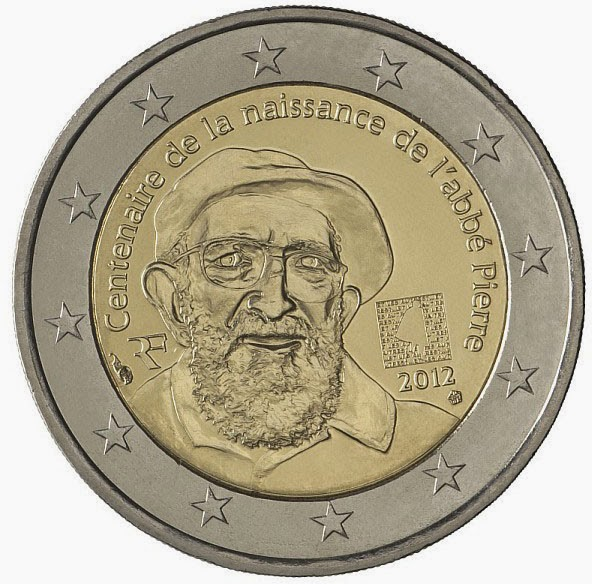 2 euro France 2012, Abbe Pierre