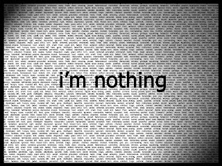 I'm Nothing Dark Gothic Wallpaper