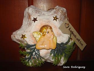 Mis Trabajos,estrella de navidad realizada con cartón de huevos