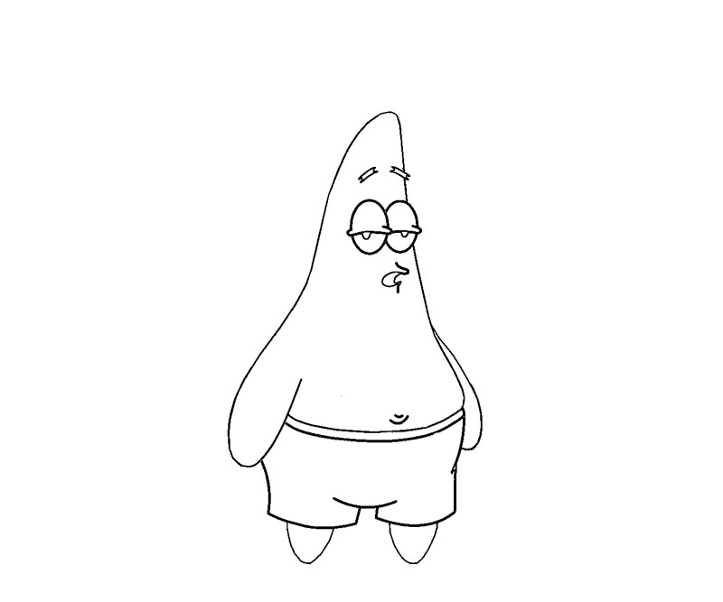 Spongebob patrick star coloring pages 15 image for Patrick star coloring pages