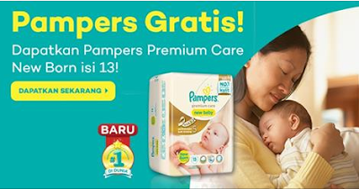 free sample sampel gratis popok pampers