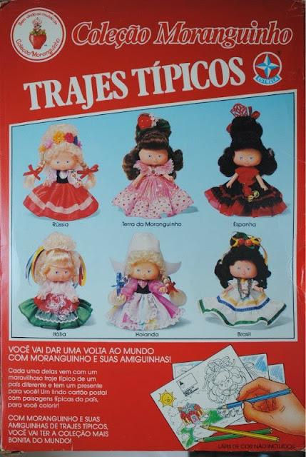 Propaganda da Coleção Moranguinho nos anos 90. Homenagem à diversidade cultural do Brasil.