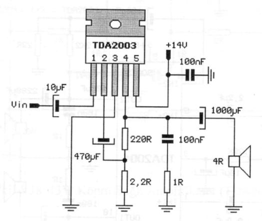 eletr u00f4nica free circuits  amplificador com tda2003