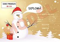 DIPLOMA PENTRU COPII - SARBATORILE DE IARNA - DI04