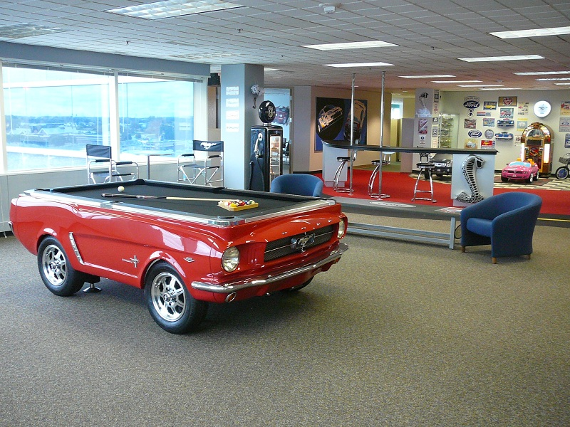 The Collectors Edition Car Pool TablesMustang Shelby Corvette - Car pool table
