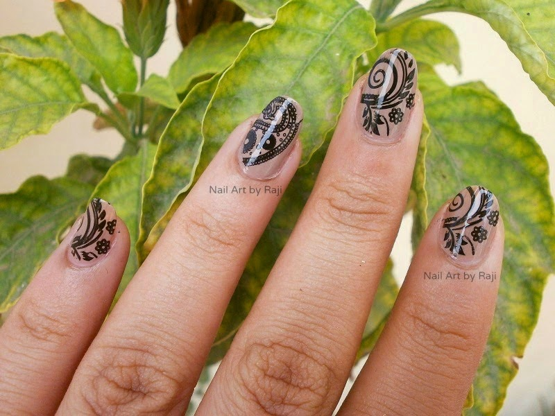 Glossy Black stamping on beige nails, Nude Nails, Neutral Nail, Nail art on neutral nails, Black and Beige Nail art, Black Nail art, stamping, Konad, Revlon Top Coat, Revlon Base Coat, Nail Art in India, Indian Beauty Blogger, Indian Nail Art Blogger, Indian Makeup Blogger