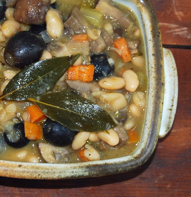 Mushroom Bean Stew with Rosemary
