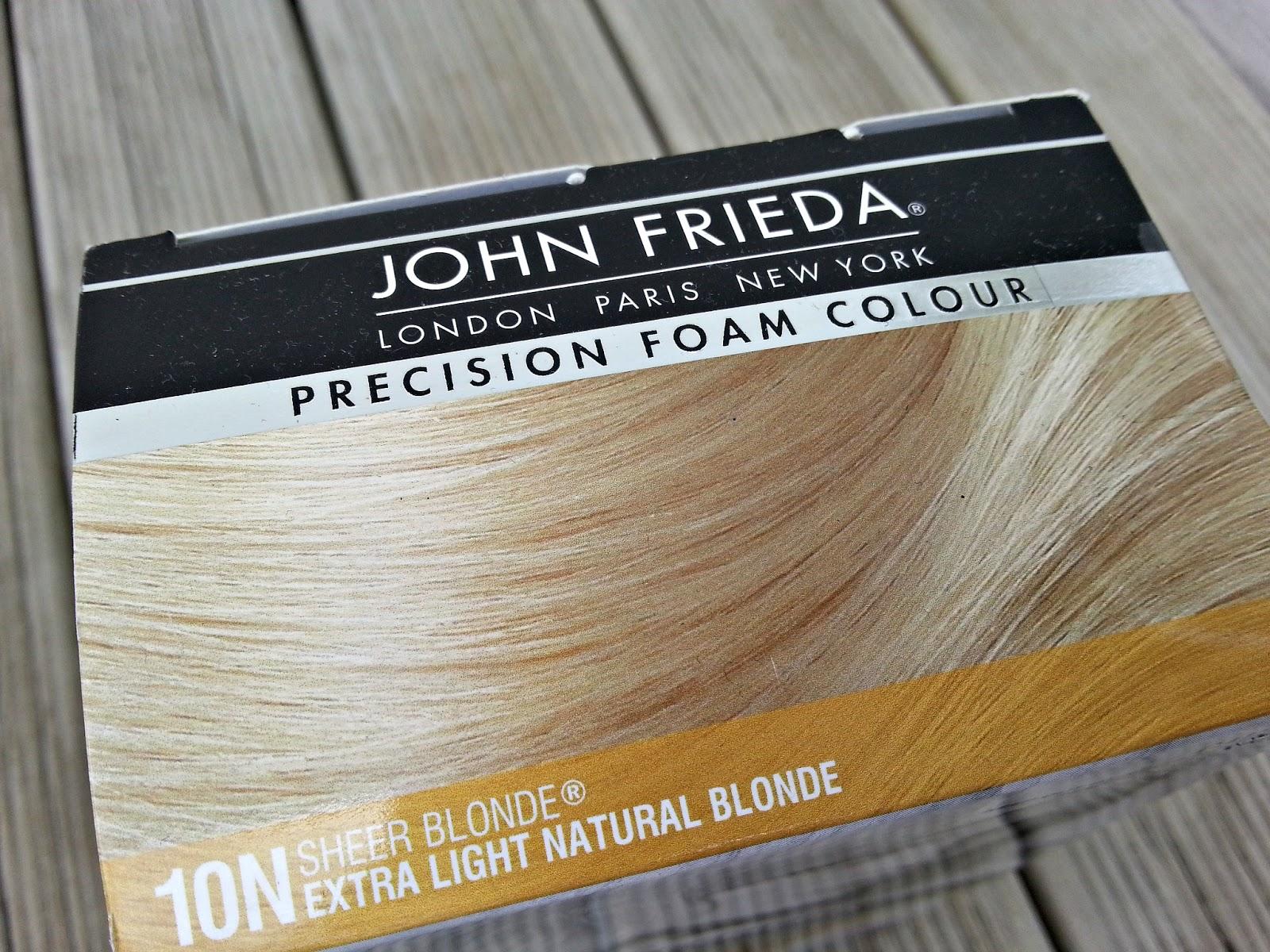 Review John Frieda Foam Extra Light Natural Blonde Confessions