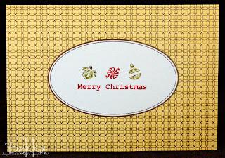 Elegant Engravings Christmas Card