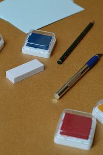 Materialien für selbstgemachte Stempel