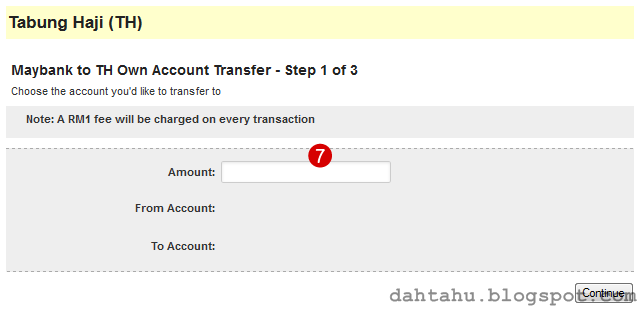 Maybank2u Maybank Transfer ke Tabung Haji 2-7