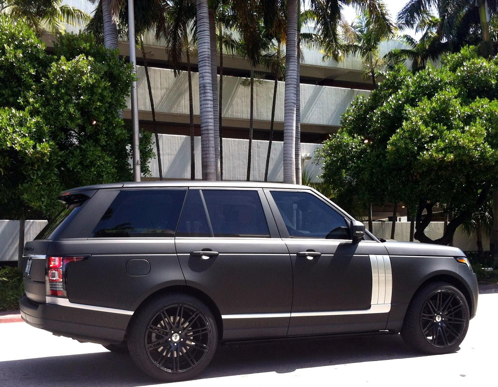 Matte Range Rover Miami Beach