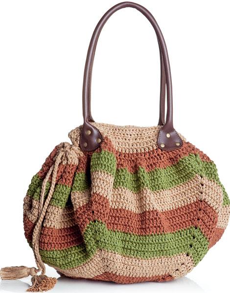 moda estilo bolsa crochê corte costura receita