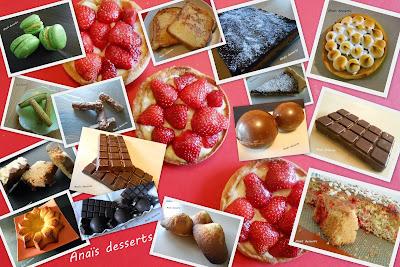 Les recettes de dessert d'Anaïs