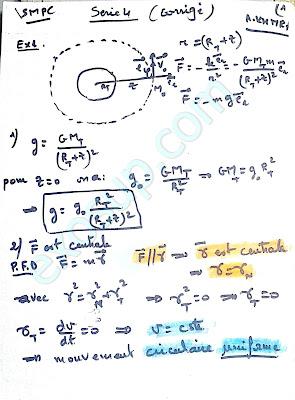 exercices corrigés Mécanique du point matériel smpc s1 fsr