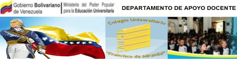 DEPARTAMENTO DE APOYO DOCENTE