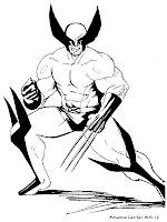 Gambar Mewarnai Wolverine X-Men