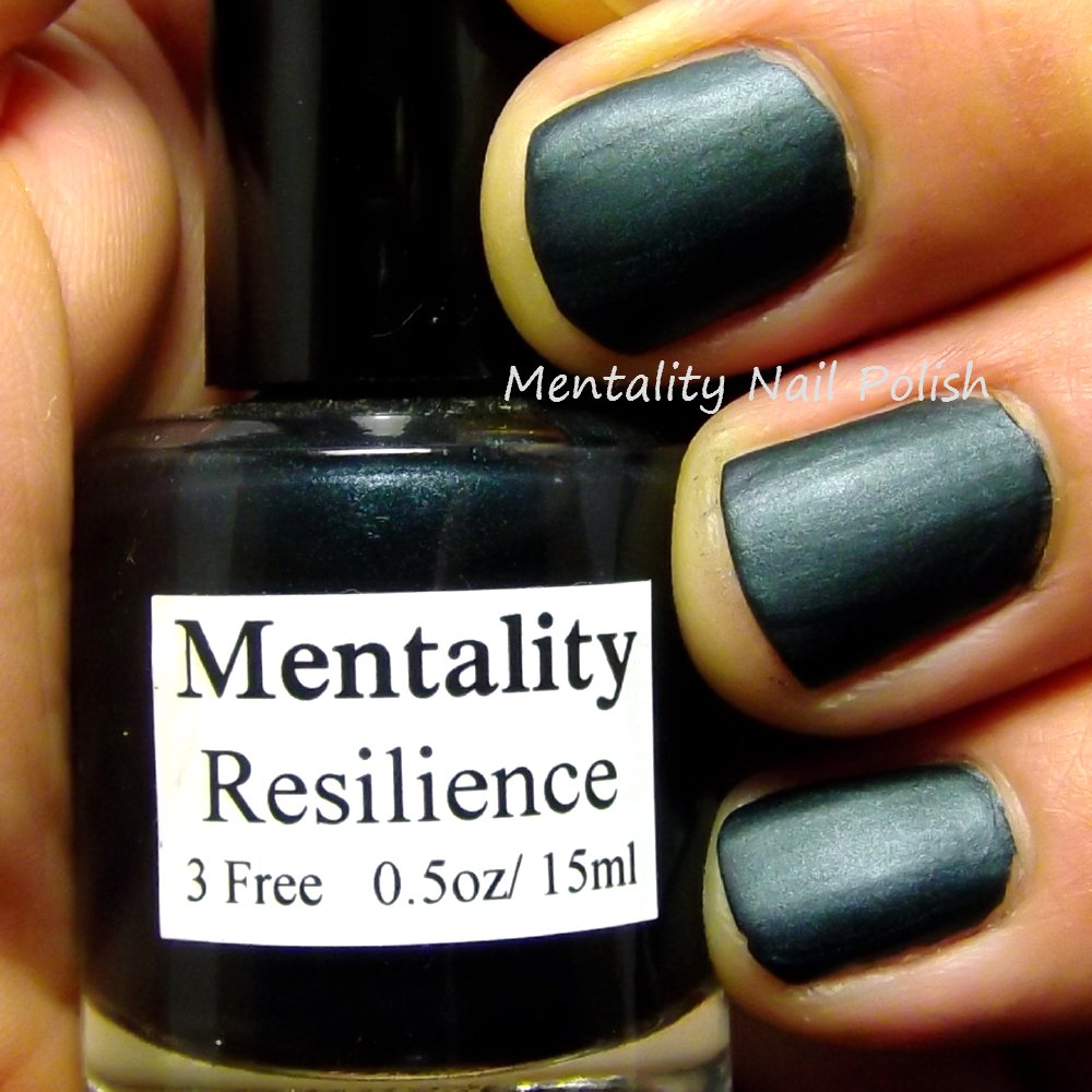 Mentality Nail Polish: The Dark Mattes For Men