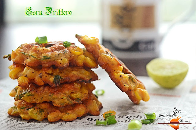 Recipe | Mexican Corn Fritter | Scratching Canvas