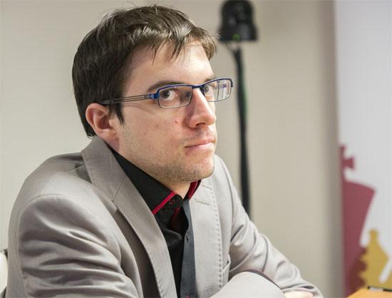 Ronde 4: Maxime Vachier-Lagrave avait deux pions de moins, mais dans une finale de Fous de couleurs opposés cela ne représentait aucun danger véritable © Chess & Strategy