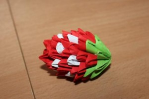 Check Out The 3d Origami Simple Strawberry