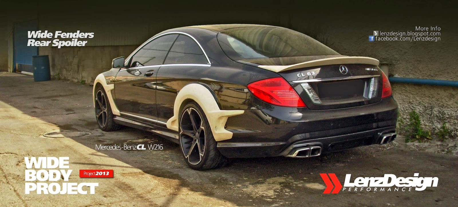 Mercedes benz cl w216 rear spoiler lenzdesign performance for Mercedes benz tuning