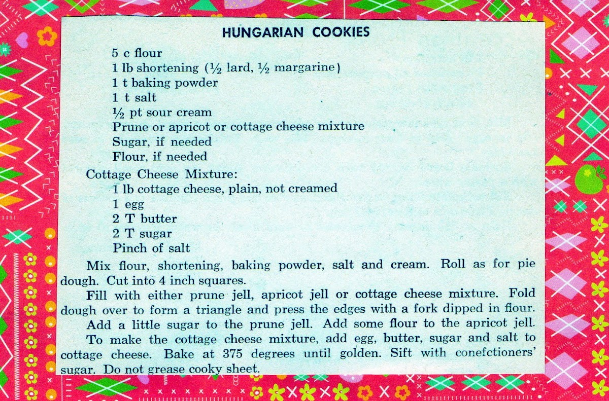 Hungarian Cookies (quick recipe)